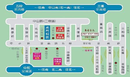 Easy Stay Inn 居易台北  酒店式公寓地圖