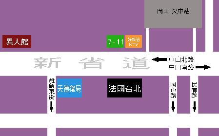 岡山 法國台北地圖