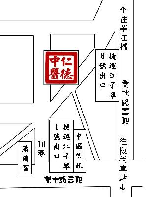 仁德中醫診所地圖
