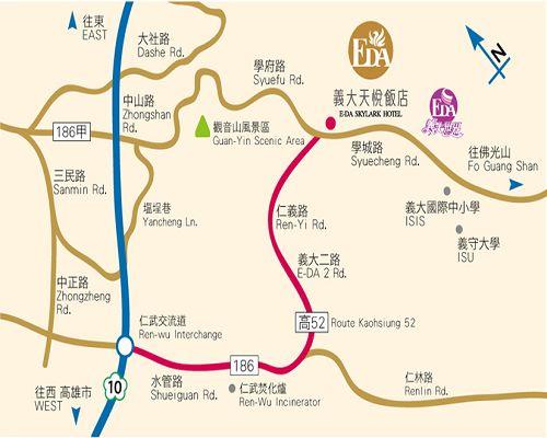 義大天悅飯店 EDA Skylark Hotel地圖