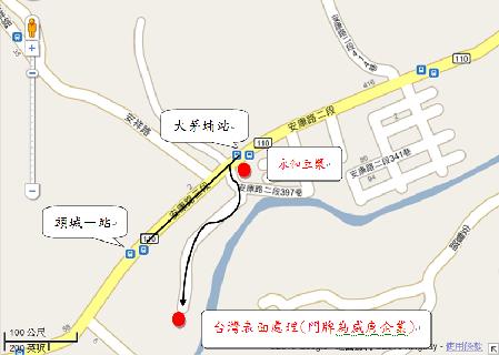 台灣表面處理科技有限公司地圖