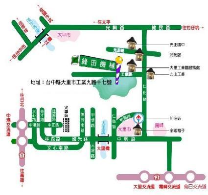 綠田機械股份有限公司地圖