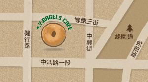 N Y BAGELS CAFE (台中金典店)地圖