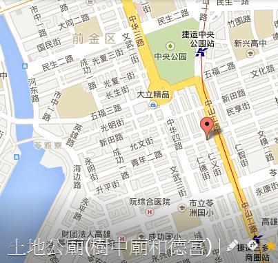 土地公廟(樹中廟)地圖