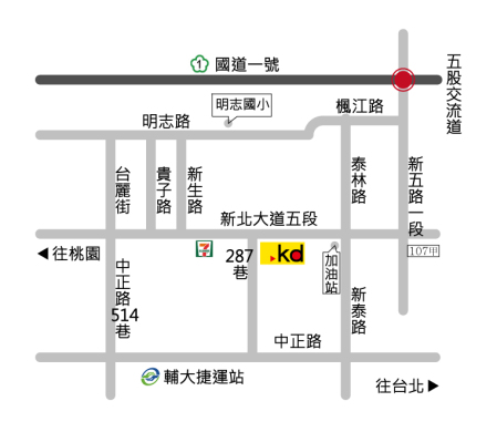 科定企業股份有限公司地圖