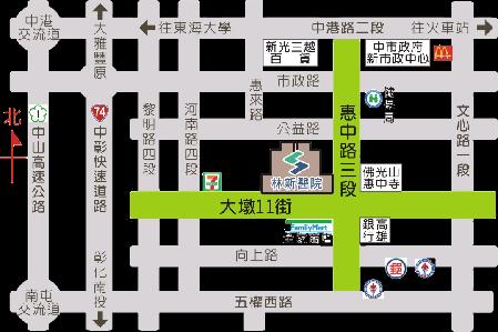 林新醫院高級健診中心地圖