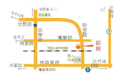 蘭陵中醫診所地圖