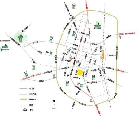 金城客棧地圖