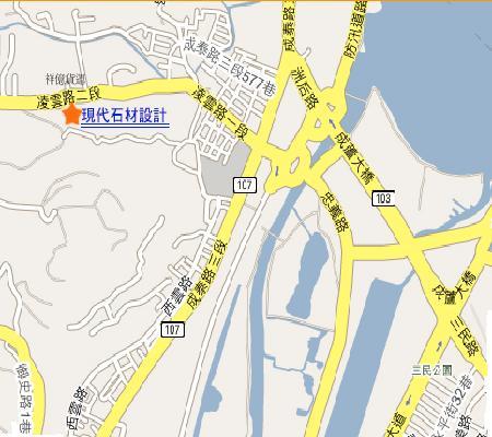 現代石材家具設計公司地圖
