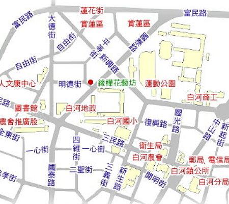 緣樺花藝坊地圖
