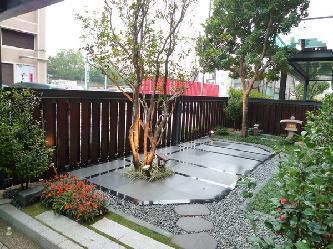 中式小庭院手绘