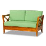 思可莉雙人柚木沙發