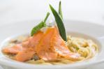 燻鮭魚奶油義大利麵