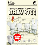 3.5 inch Baby Qee DIY Angel Bear White