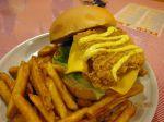 鄉村脆皮雞腿排漢堡