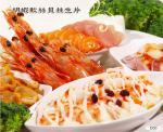 明蝦軟絲貝柱生片